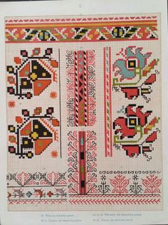 Butterfly Cross Stitch, Cross Stitch Borders, Cross Stitch Flowers, Cross Stitch Designs, Cross Stitching, Cross Stitch Patterns, Medieval Embroidery, Folk Embroidery, Learn Embroidery