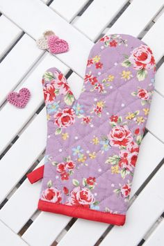 Floral Oven Glove Kitchen Oven Mitt  Duck Egg Home & Living Amazing Kitchen Mittens 2018