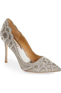 Badgley Mischka 'Rouge II' Crystal Pointy Toe Pump (Women) available at #Nordstrom