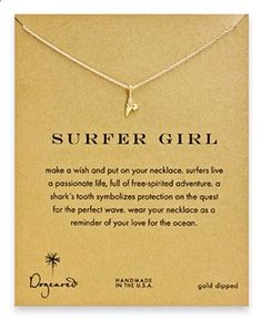 Dogeared Surfer Girl // Gold Shark Tooth Necklace