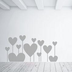 Adesivi da parete Hearts like flowers - Wall Sticker - Adesivo da Muro