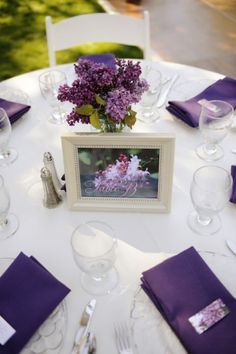 lilac centerpieces