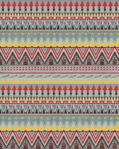Aztec Pattern Stretched Canvas by Kiley Victoria | Society6