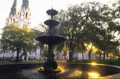 """Savannah, Ga., is a historic city and its landscaping and architecture reflect that. Its central district is filled with beautiful """"squares"""" with statues, monuments and shady greenspace and its streets are lined with mansions that evoke the Old South. Photo: Www.SavannahVisit.com"""