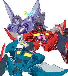 Skywarp, Starscream, Thundercracker