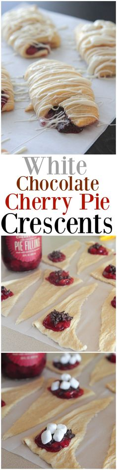 White Chocolate Cherry Pie Crescents!  Great for the Holidays or any occasion!