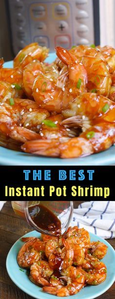 Instant Pot Shrimp Instant Pot Shrimp with a delicious honey garlic sauce for an easy weeknight dinner or appetizer that's ready in just 15 minutes Kitchen Recipes, Cooking Recipes, Healthy Recipes, Easy Recipes, Seafood Recipes, Free Digital Scrapbooking, Farmers Market, Honey Shrimp, Garlic Shrimp