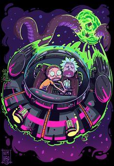 ArtStation - Rick and Morty Fan Art, Heber Villar Liza