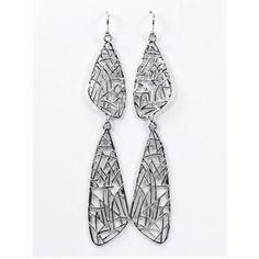 ✨ Magda Lace Drop Earrings Last Pair ✨ Magda Lace Earrings ✨ Lightweight ✨ Dina Aziza Jewelry Earrings