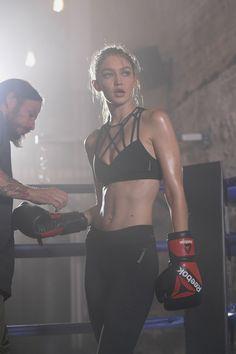 Gigi Hadid Shows Off Her Boxing Skills in New Reebok…