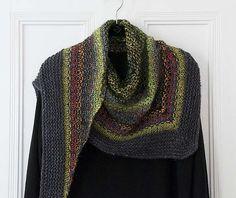 Ravelry: Noro Woven Stitch Shawl pattern by Z apasi Shawl Patterns, Knitting Patterns Free, Free Knitting, Stitch Patterns, Crochet Shawls And Wraps, Crochet Poncho, Knitted Shawls, Knit Scarves, Christmas Knitting