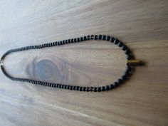 Men's Matte Black Onyx and Tigereye Necklace, Beaded Necklace, Long Necklace, Gift for Men, Layering Necklace, Tribal, Mens Necklace by GrdnEarthlyDelights on Etsy