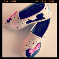 Disney custom Toms Mickey Mouse Minnie by CinderellasFairyTale, $93.00