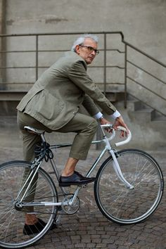 Whenever I ride around town I imagine myself being the female dapper cyclist like this guy.
