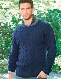 Verena Knitting Magazine – man knit sweater pattern cables