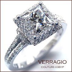 Verragio Engagement Ring, Princess Cut