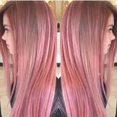 Brown hair w/ pink highlights