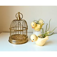 Vintage Bird Cage, Small Bird Cage, Brass Bird Cage ($65) ❤ liked on Polyvore featuring home, home decor, vintage home decor, vintage birdcage, brass home accessories, brass home decor and vintage home accessories