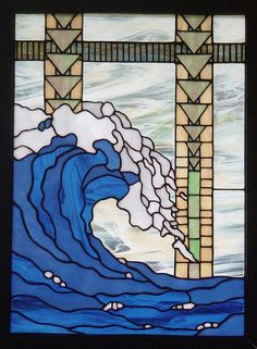 Stained glass wave  - Epic Art inspiration