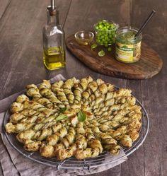 Photo de la recette : Tarte soleil, Tartinade Légumes Petit Pois Basilic Bonneterre