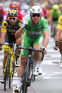 #TDF2016 103th Tour de France 2016 / Stage 3 Arrival / Mark CAVENDISH Celebration / Green Sprint Jersey / Granville Angers / TDF /