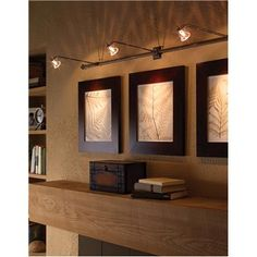 track lighting - exactly what I was thinking for over kitchen cabinets
