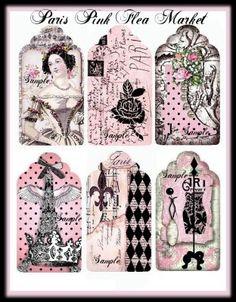 pink paris free printables