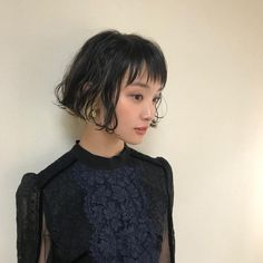 Asian Short Hair, Asian Hair, Short Hair Cuts, Pretty Hairstyles, Bob Hairstyles, Hair Streaks, Shot Hair Styles, How To Make Hair, Hair Art