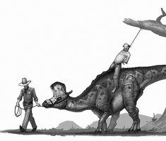 "1,277 Likes, 20 Comments - Shaun Keenan (@shaunmichaelkeenan) on Instagram: ""Zero tolerance for dinosaur thieves. #oldwestdinosaurs #lambeosaurus #dinosaur #dinosaurs #cowboy…"""