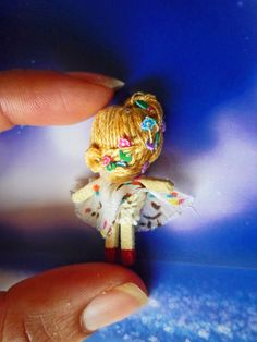 Miniature rag doll 1 (back). By Georgina Verbena Verbena, Doll Toys, Dolls, Pets, Animals, Miniatures, Animals And Pets, Animales, Animaux