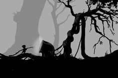 Limbo https://itunes.apple.com/us/app/limbo-game/id656951157?mt=8&at=10laCC