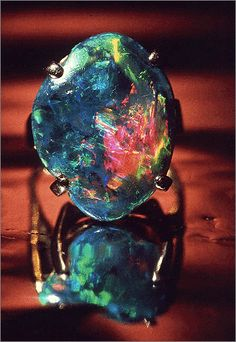 Black Opal With Brilliant Vivid Colors