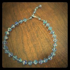 Clear Faceted Bead Necklace. $4 bundle price. Clear plastic faceted beads with brass hardware. Jewelry Necklaces