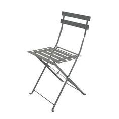2 sillas plegables de jardín de metal