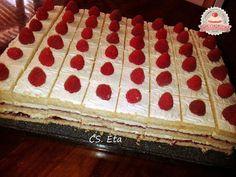 Citromos-málnás kockák Eta módra Cake, Kuchen, Torte, Cookies, Cheeseburger Paradise Pie, Tart, Pastries