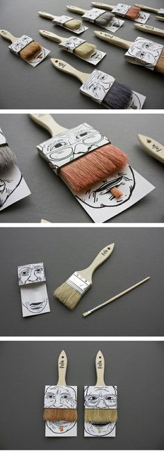 Clever paintbrush #packaging PD