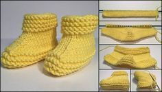Yellow colored children making booties with visual impressions knitting embroidery videos and lessons Yellow Colored Kids Booties With Pictorial Illustration - hobby sisters This Pin was discovered by Ter baby booties made Baby Knitting Patterns, Baby Booties Knitting Pattern, Knitted Booties, Mittens Pattern, Crochet Baby Booties, Hand Knitting, Diy Crafts Knitting, Baby Boy Booties, Unique Boots