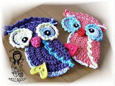 Crochet PATTERN Applique Autumnal Owl DIY Pattern 69