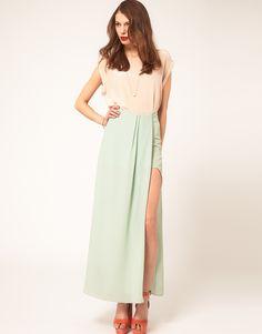 ASOS Maxi Skirt In High Low Hem