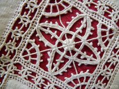 Italian Needle Lace...My Zia Dina Galeazzi added this touch to my Italian Tablecloth...an amazing heirloom...Grazie, Carisssima Zia <3