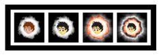 """Esta imagem foi criada com um tamanho original de 3200 x 1100 pixels. Usando a ferramenta rectangle (tamanho 35) foi produzida uma moldura retangular com a cor primária """"preta"""" ativa. No interior da moldura foram adicionadas quatro imagens obtidas após ajustes e transformações do tutorial StormGirl original.  https://sites.google.com/site/matluisesteves/recursos"""