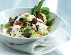 Vegetable risotto with parmesan mousse/Kasvisrisotto ja parmesaanivaahto