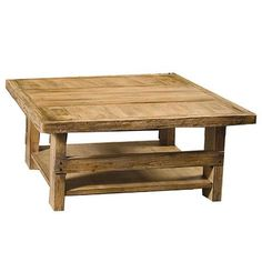 Coffee Table.  I think that this would be an easy project to make from pallet wood.  I would love to see the wood stained and waxed. Rustic