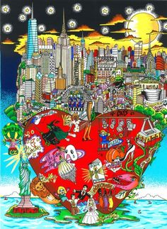 New Release: Broadway's Big Apple Night #popart #nyc #broadway #bigapple