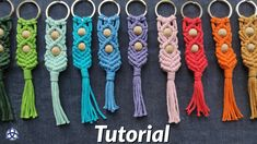 In this Macrame Tutorial I'll show you how to make beautiful Macrame Keychain gift. This Macrame pattern is perfect for beginners. String Crafts, Rope Crafts, Yarn Crafts, Macrame Wall Hanging Diy, Macrame Plant Hangers, Micro Macramé, Macrame Knots, Macrame Jewelry, Diy Keychain