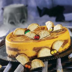 Cheesecake with bats – a recipe for Halloween.