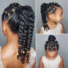 The perfect natural hair twist updo for little girls to wear their natural hair comfortably without using hair extensions