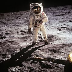 Man on the Moon Today is the anniversary of the moon landing. 📷 Neil Armstrong photographed Buzz Aldrin with a lunar surface camera,