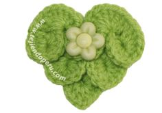Crocodile stitch heart ♥LCH-MRS♥ with diagram