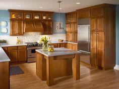 kraftmaid kitchen photo gallery | Kraftmaid Cherry Cabinetry in Warm Sunset